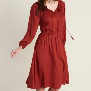 Old Navy boho peasant tassel dress